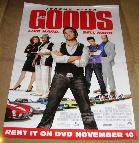 The Goods Live Hard, Sell Hard Movie Poster 27x40 (2009) Used Will Ferrell, James Brolin, David Bantly, Ian Roberts, Vanessa Ross, Joey Kern, Jessica St Clair, Bryan Callen, Tony Hale, Austin Honaker, Jonathan Sadowski, Alan Thicke, Ving Rhames