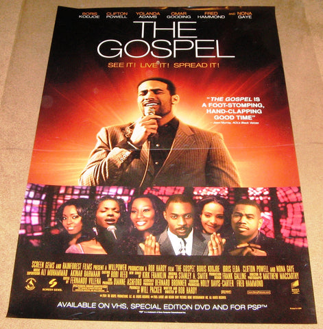 The Gospel Movie Poster 27x40 Used China Omar Gooding, Clifton Powell, Nathan Wright, Rhoda Griffis, Leland L Jones, Donna Biscoe, Terrence Gibney, Michael J Pagan, Kent Igleheart, John Fitzgerald Page, Jedda Jones, Geoff McKnight, Myra J, Nona Gaye