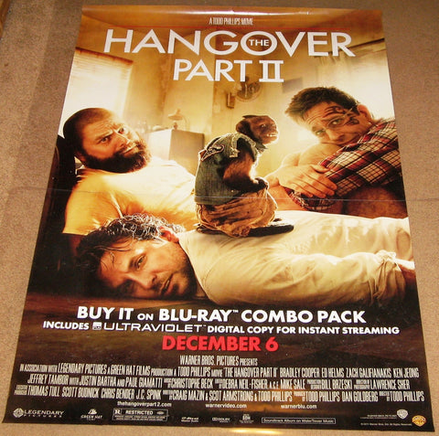 The Hangover Part 2 Movie Poster 27x40 Used Mike Tyson, Nirut Sirichanya, Justin Bartha, Michael Berry Jr, Gillian Vigman, Ed Helms, Jeffrey Tambor, Ken Jeong, Bryan Callen, Bradley Cooper, Crystal, Zach Galifianakis, Jamie Chung, Sondra Currie