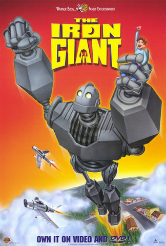 The Iron Giant Movie Poster 27x40 Used Vin Diesel, John Mahoney, Sherry Lynn, Rodger Bumpass, Eli Marienthal, Charles Howerton, Jennifer Darling, Paul Eiding, Jennifer Aniston, Cloris Leachman, Frank Thomas