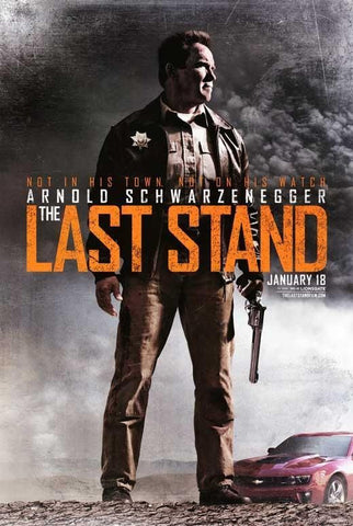 The Last Stand Double Sided Movie Poster 27x40 Used Arnold Schwarzenegger, Cliff Fleming, Chris Browning, Zach Gilford, Rio Alexander, Mathew Greer, Eduardo Noriega, Forest Whitaker, John Patrick Amedori, Jaimie Alexander