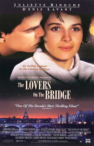 The Lovers on the Bridge Movie Poster 27x40 Used