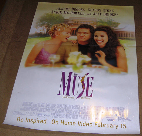 The Muse 1999 Movie Poster 27x40 Used Jeff Bridges, Sharon Stone, Lorenzo Lamas, Rob Reiner, James Cameron, Martin Scorsese, Cyball Shepherd, Jennifer Tilly
