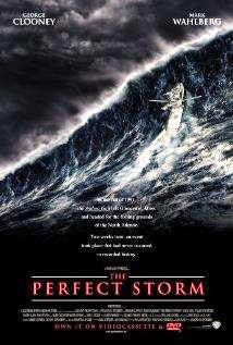 The Perfect Storm Movie Poster 27x40	 Used Cherry Jones, Bob Gunton, Sandy Ward, Merle Kennedy, Mark Wahlberg, Michael Ironside, Rusty Schwimmer, George Clooney, William Fichtner, Marcio Rosario, John C Reilly