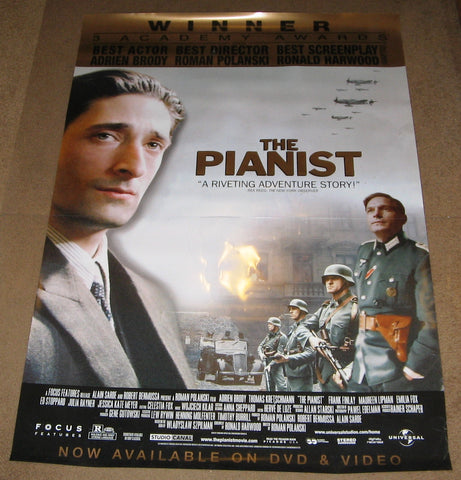 The Pianist 2002 Movie Poster 27x40 Used Roman Polanski