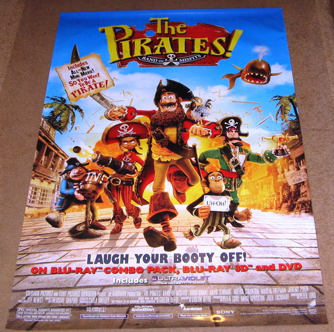 The Pirates Band Of Misfits Movie Poster 27x40 Used Cartoon Animated