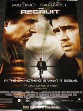 The Recruit Movie Poster 27x40 Used Ron Lea, Kenneth Mitchell, Eugene Lipinski, Rick Kain, Colin Farrell, Neil Crone, Elisa Moolecherry, Jessica Greco, Stephen Lee Wright, Mark Ellis, Al Pacino, Jeanie Calleja