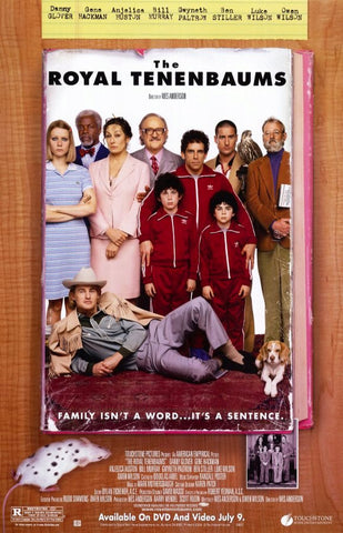 The Royal Tenenbaums Movie Poster 27x40 Used Gene Hackman, Anjelica Huston, Ben Stiller, Keith Charles, Donal Lardner Ward, Bill Murray, Frank Wood, Jan Austell, Kalani Queypo, Greg Goossen, Owen Wilson, Gwyneth Paltrow
