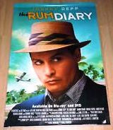 The Rum Diary Movie Poster 27x40 Used Bill Chott, Andy Umberger, Enzo Cilenti, Johnny Depp, Michael Rispoli, Javier Grajeda, Giovanni Ribisi, Karen Austin, Lisa Robins, Julian Holloway, Richard Jenkins