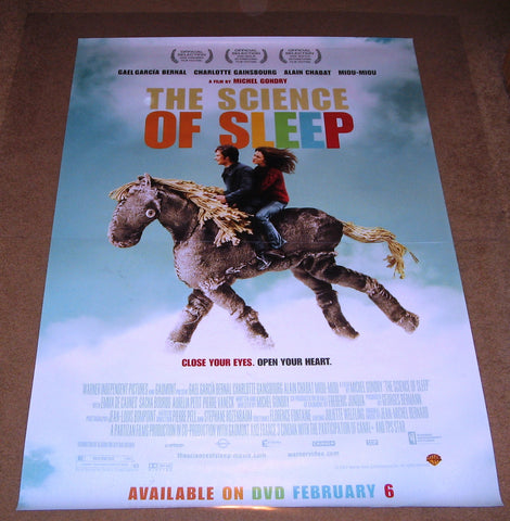 The Science of Sleep Movie Poster 27x40 Used Stephane Metzger, Yvette Petit, Miou-Miou, Aurelia Petit, Pierre Vaneck, Alain Chabat, Charlotte Gainsbourg, Sacha Bourdo, Emma de Caunes, Inigo Lezzi, Gael García Bernal