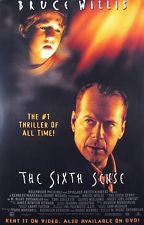 The Sixth Sense Movie Poster 27x40 Used MCP0013 Bob Bowersox, Olivia Williams, Trevor Morgan, Peter Anthony Tambakis, Gina Allegro, Patrick McDade, Mischa Barton, Bruce Willis, Sean Oliver, Samia Shoaib