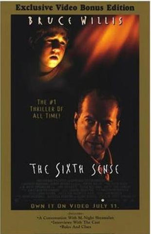 The Sixth Sense Movie Poster 27x40 Used Bob Bowersox, Olivia Williams, Trevor Morgan, Peter Anthony Tambakis, Gina Allegro, Patrick McDade, Mischa Barton, Bruce Willis, Sean Oliver, Samia Shoaib