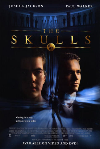 The Skulls 2000 Movie Poster 27x40 Used-Condition Craig T. Nelson, Paul Walker