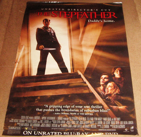 The Stepfather Movie Poster Unrated Directors Cut 27x40 (2009) Used Jessalyn Gilsig, Deirdre Lovejoy, Tracey Costello, Jason Wiles, Braeden Lemasters, Pride Grinn, Nancy Linehan Charles, Marcuis Harris, Amber Heard, Sela Ward