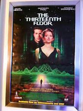 The Thirteenth Floor Movie Poster 27x40 Used 13 Vincent D'Onofrio, Rif Hutton, Glendon Rich, Johnny Crawford, Darryl Henriques, Jeremy Roberts, Travis Tedford, Craig Bierko, Tia Texada, Burt Bulos, Will Wallace