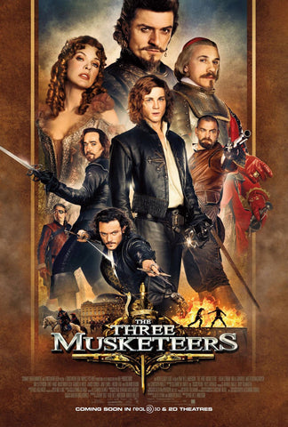 The Three Musketeers Movie Poster 27x40 Double Sided (2011) Used 3 Milla Jovovich, Ray Stevenson, James Corden, Mads Mikkelsen, Juno Temple, Gennadi Vengerov, Christoph Waltz, Carsten Norgaard, Logan Lerman, Christian Oliver, Orlando Bloom, Til Schweiger