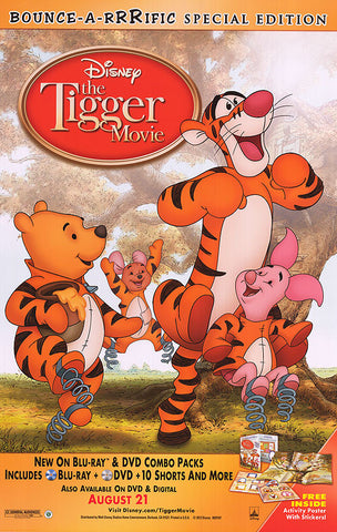 The Tigger Movie Special Edition 2000 Movie Poster 27x40 Used Disney