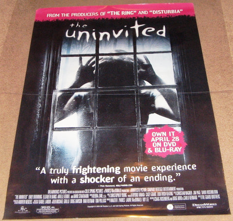 The Uninvited Movie Poster 27x40 Used Kevin McNulty, Don S Davis, Alf Humphreys, Heather Doerksen, Jesse Moss, David Strathairn, Elizabeth Banks, Emily Browning, Arielle Kebbel