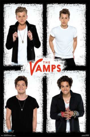 The Vamps - White Music Poster 22x34 RP14114 UPC882663041145