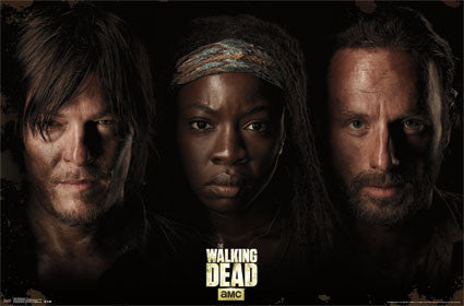 The Walking Dead - Trio TV Show Poster 22x34 RP13588 UPC882663035885