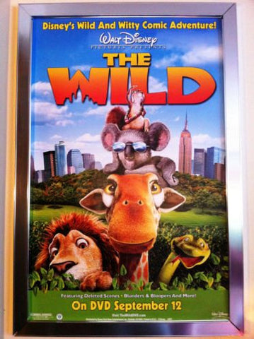 The Wild Movie Poster 27x40	 Used Disney Nolan North, Bob Joles, Laraine Newman, James Belushi, Nika Futterman, Greg Berg, Richard Kind, Emily Johnson, Colin Cunningham, William Shatner, Nicholas Guest, Eddie Izzard