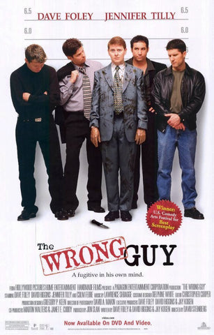 The Wrong Guy Movie Poster 27x40 Used Boyd Banks, Arlene Mazerolle, Joe Flaherty, Ralph Small, David Steinberg, David Anthony Higgins, Colm Feore, Jim Creeggan, Hadley Sandiford, Ed Robertson, Mark McKinney, Don Dickinson, Jennifer Tilly