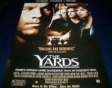The Yards Movie Poster 27x40 Used Joseph Ragno, Mark Wahlberg, Ellen Burstyn, Steve Lawrence, Robert Montano, Dan Grimaldi, John Elsen, Victor Arnold, Marc Romeo, Tomas Milian, Tyree Michael Simpson