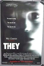 They Movie Poster 27X40 Wes Craven	 Used