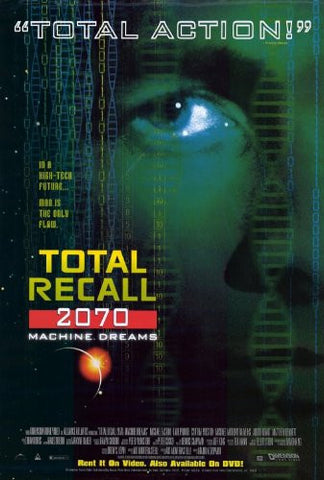 Total Recall 2070 TV Show  Poster 27x40 Used Cynthia Preston, Karl Pruner, Matthew Bennett, Michael Rawlins, Michael Easton