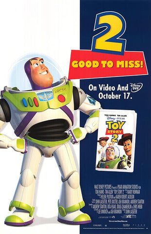 Toy Story 2 1999 Movie Poster 27x40 Used