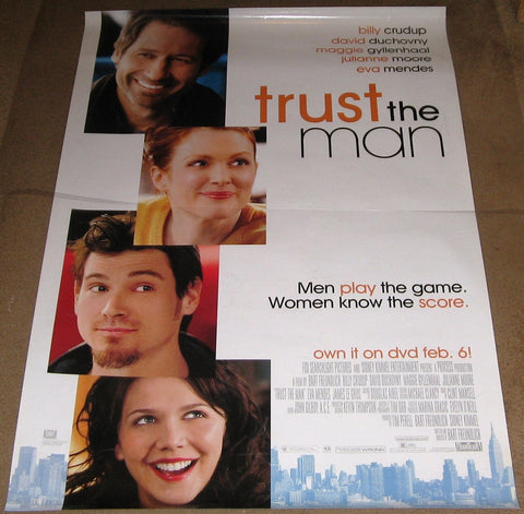 Trust the Man Movie Poster 27x40 Used Maggie Gyllenhaal, David Duchovny, Bob Balaban, Billy Crudup, Teresa Yenque, Justin Bartha, Noelle Beck, Boomer Tibbs, James LeGros, Anya Avaeva, Eva Mendes