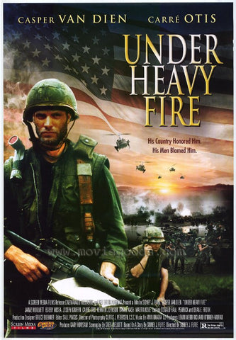 Under Heavy Fire Movie Poster 27x40 Used Casper Van Dien, Carre Otis