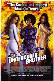 Undercover Brother Movie Poster 27x40 Used Eddie Griffin, Dave Chappelle, Aunjanue Ellis, Nick Alachiotis, Susie Spear, Marco Bianco, Jack Noseworthy, Wayne Downer, JD Hall, Pam Grier, Shauna MacDonald, Marvin Kaye, Denise Richards