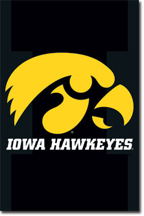 University of Iowa Sports Poster 22x34 RP8350 UPC017681083802 Hawkeyes