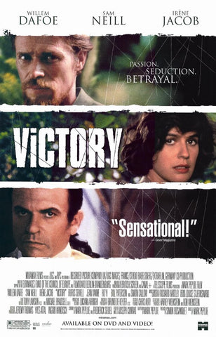 Victory Movie Poster 27x40 Used Willem Dafoe, Sam Neill, Irène Jacob, Rufus Sewell