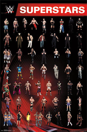 WWE - Grid 14 Sports Poster 22x34 RP13459 UPC882663034598