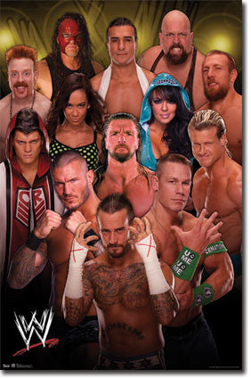 WWE – Group 12 Poster 22x34 RP5765  UPC017681057650
