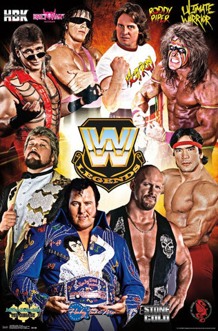 WWE Legends - Group 16 Sports Poster 22x34 RP14458 UPC882663044580