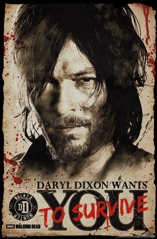 Walking Dead - Daryl Wants You Tv Show Poster 22x34 RP14341 UPC882663043415