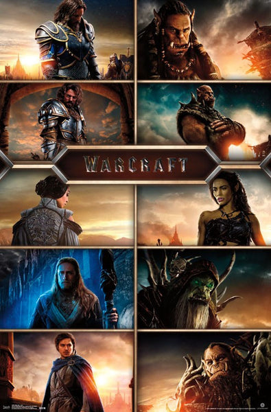 Warcraft Grid Movie Poster 22x34 Rp14027 Upc882663040278