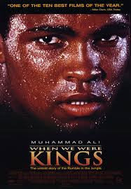 When We Were Kings Movie Poster 27x40 Used Drew Bundini Brown, Miriam Makeba, George Plimpton, The Spinners, Muhammad Ali, Archie Moore, Danny 'Big Black' Rey, Sonny Liston, BB King, Spike Lee, George Foreman
