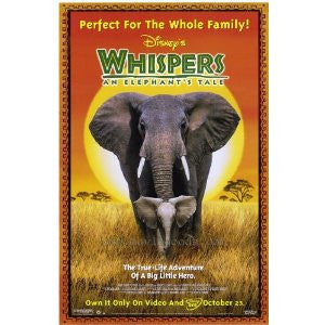 Whispers an Elephant's Tale Movie Poster 27x40 Used Disney Angela Bassett, Joanna Lumley, Anne Archer
