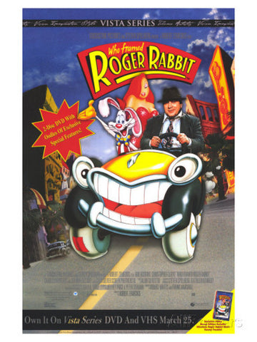 Who Framed Roger Rabbit 1988 Movie Poster 27x40 Used Mel Blanc, Frank Sinatra