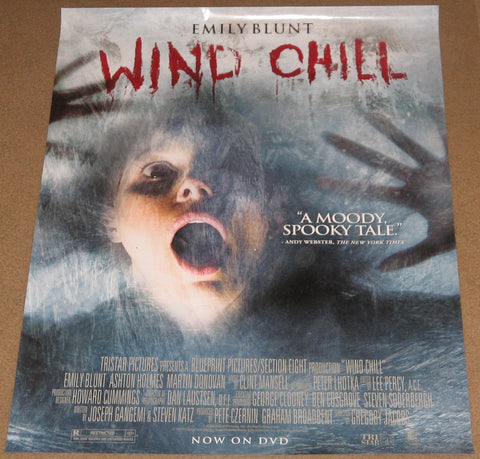 Wind Chill Movie Poster 11x24 Used Ashton Holmes, Ian A Wallace, Donny James Lucas, Martin Donovan, Darren Moore, Chelan Simmons, Ned Bellamy, Ian Thompson, Emily Blunt, Linden Banks