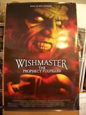 Wishmaster 4: The Prophecy Fulfilled Movie Poster 27x40 Used Mariam Bernstein, John Novak, Tara Spencer-Nairn, Chad Bruce, Kimberly Huie, Aleks Paunovic, Darren Ross, Jennifer Pudavick, Victor Webster, John Benjamin Martin, Jason Thompson