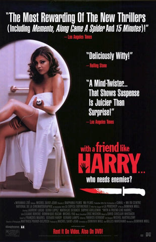 With A Friend Like Harry…Movie Poster 27x40 Used Sophie Guillemin, Sergi López, Liliane Rovère, Dominique Rozan, Mathilde Seigner, Laurent Lucas