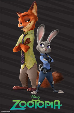 Zootopia - Partners Movie Poster 23x34 RP14265 UPC882663042654 Disney