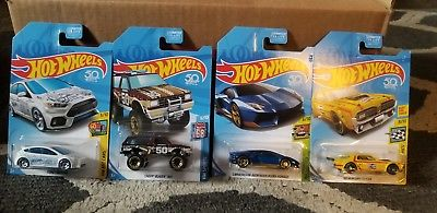 New 2018 Hot Wheels Kmart K-Day 4 Vehicle Exclusive October Set Full Set
