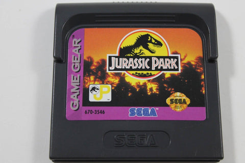 Jurassic Park Sega Game Gear Cartridge (1993) Video Game