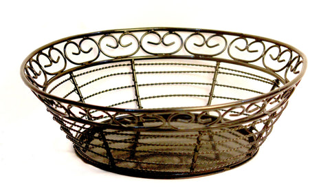 Aakashi Antique black multipurpose Basket - Nakashi International LLC